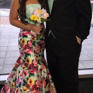 Two piece tiffany blue Rachel Allan Prom Dress!!